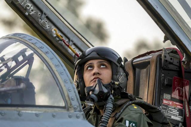Pakistan's first female pilot