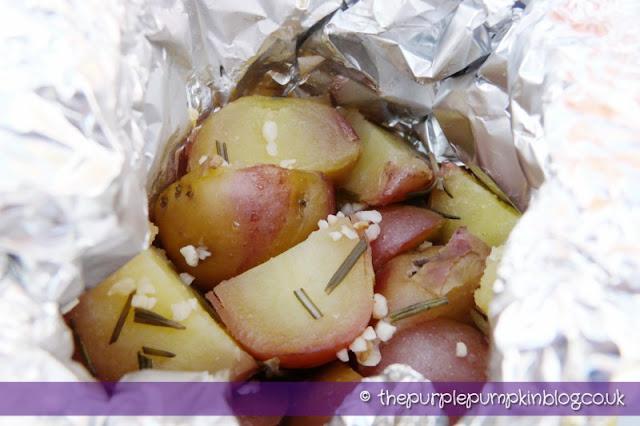 Garlic and Rosemary New Potatoes at The Purple Pumpkin Blog