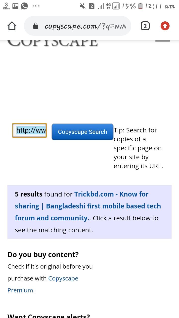 ওয়েবসাইটের কপি পোস্ট চেক করুন।।  Check your website copypost.
