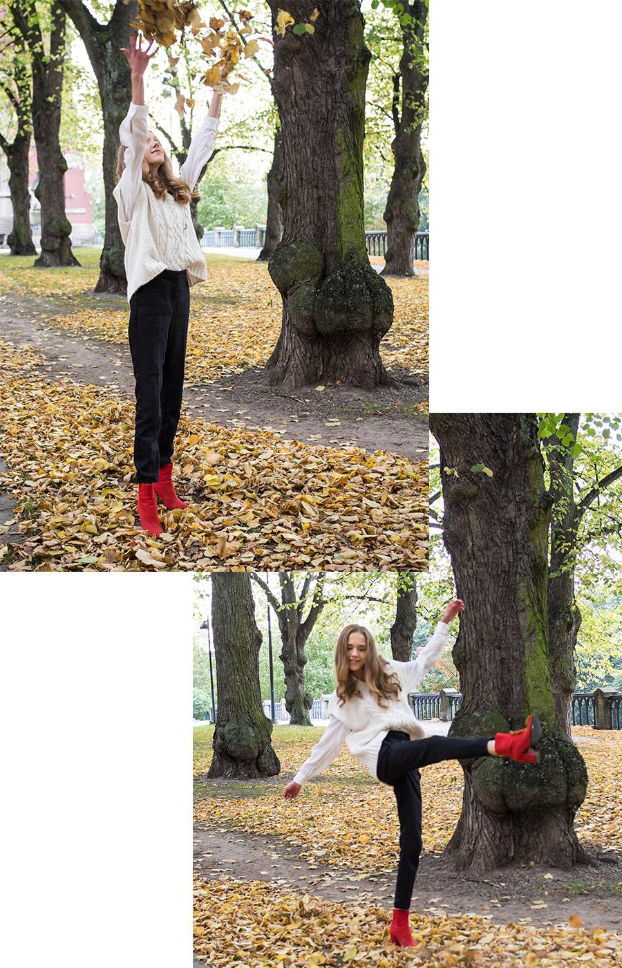 Syysasu neuleliivin kanssa - Autumn outfit with knitted vest