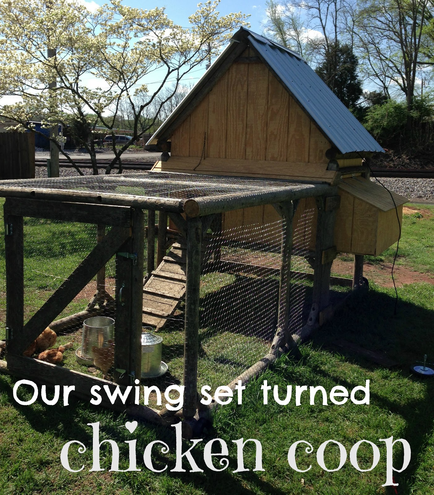 Our Swing Set Turned Chicken Coop