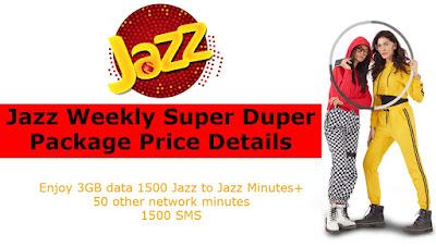 Jazz Weekly Super Duper Package Price Details
