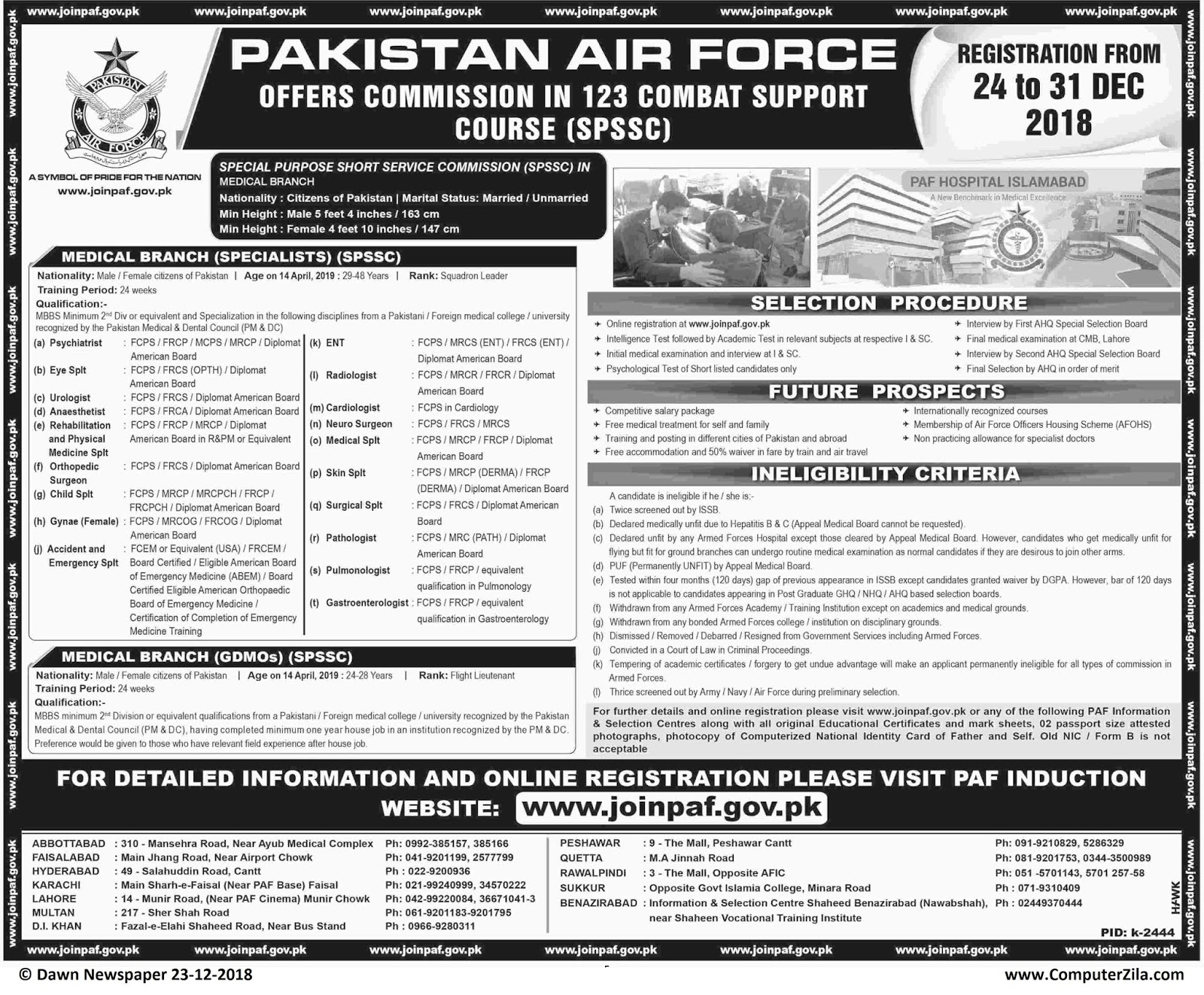 PAF Commission in 123 Combat Support Course (SPSSC) at Pakistan Air Force