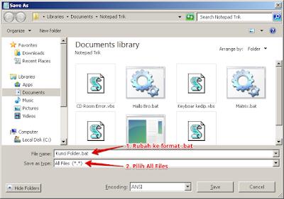 Membuat Password Folder tanpa Aplikasi menggunakan notepad di windows