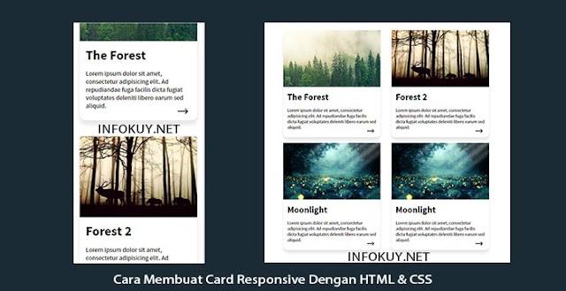Cara Membuat Card Responsive Dengan HTML & CSS