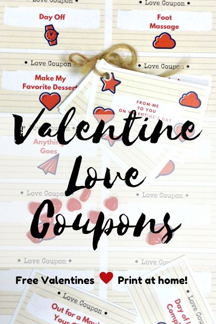 Free {Printable} Love Coupons for #ValentinesDay