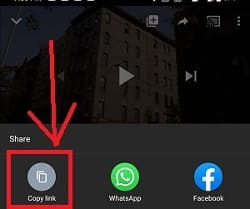 How to copy link on youtube mobile app?