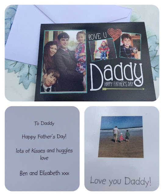 Personalised photo father's day card from Truprint