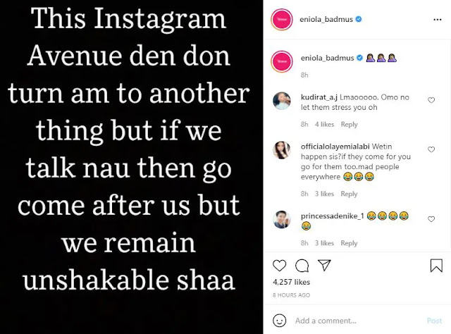 If i talk now they will come and attack me - Eniola Badmus laments about being Insulted on Social media