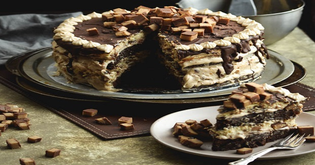 Peanut Butter Mousse Reese's Cup Cheesecake Cake Recipe