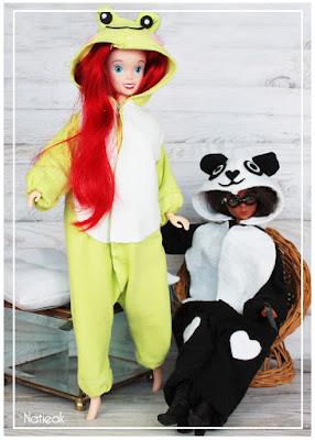 Kigurumi grenouille et panda  Barbie