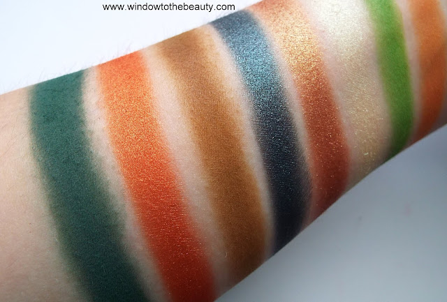 Juvia's palce autumn palette swatches