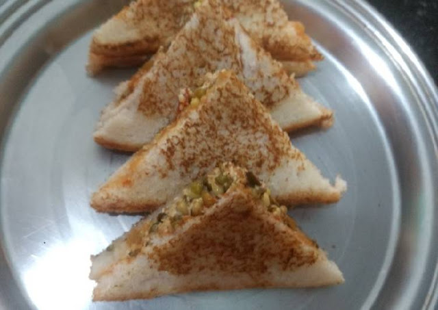 Paneer Sprout Sandwich Recipe