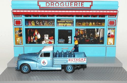 les plus beaux véhicules utilitaires, peugeot 203 pick-up 1:43 butagaz bouteilles de gaz