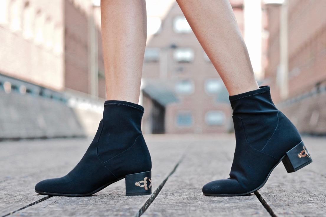 botines tipo calcetín