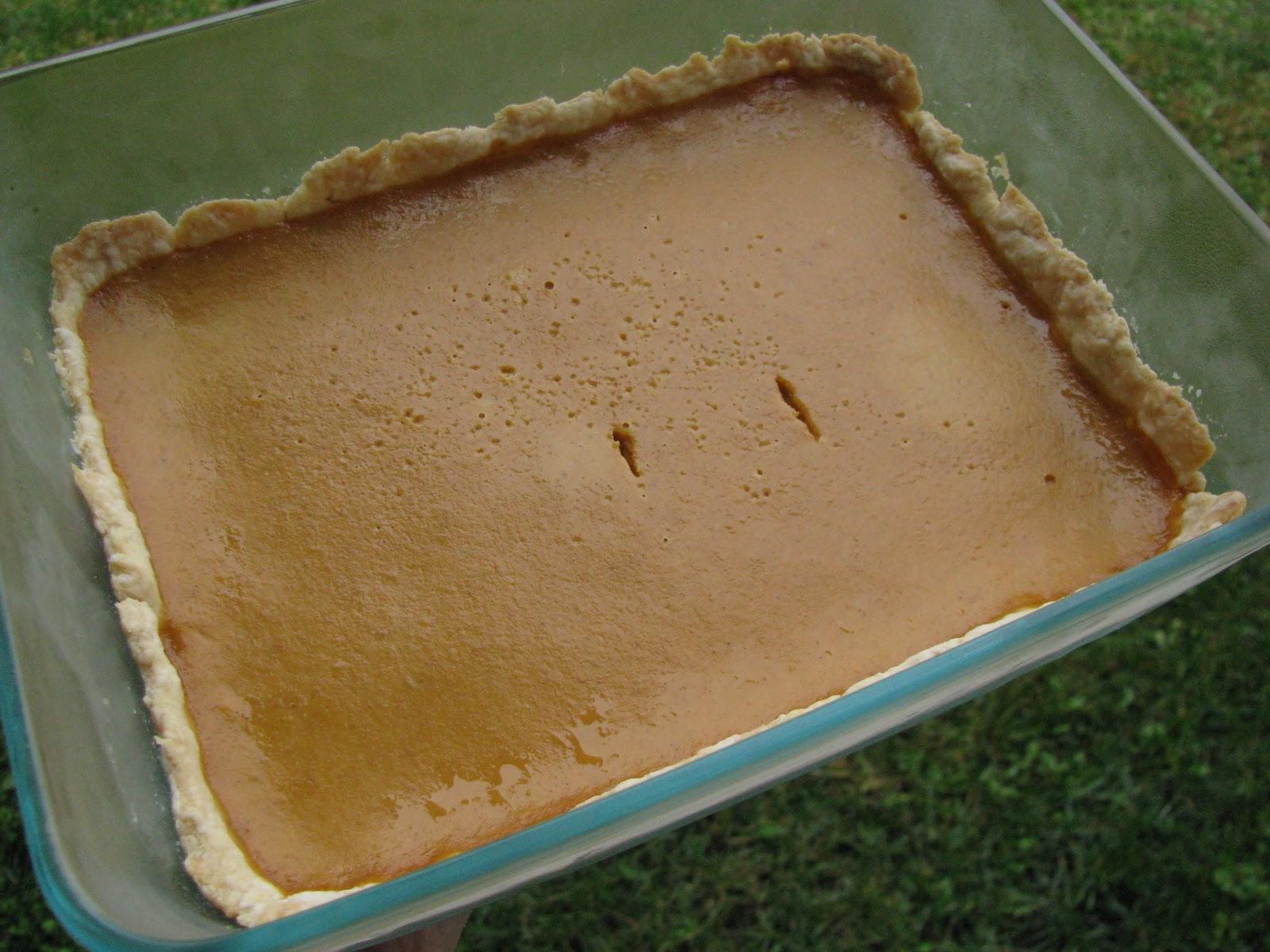 Corrie Food: Libby's Famous Pumpkin Pie -- But Rectangular