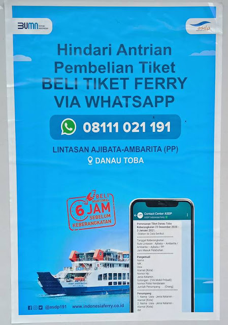 Cara Membeli Tiket Kapal Ferry Penyeberangan Ajibata Danau Toba