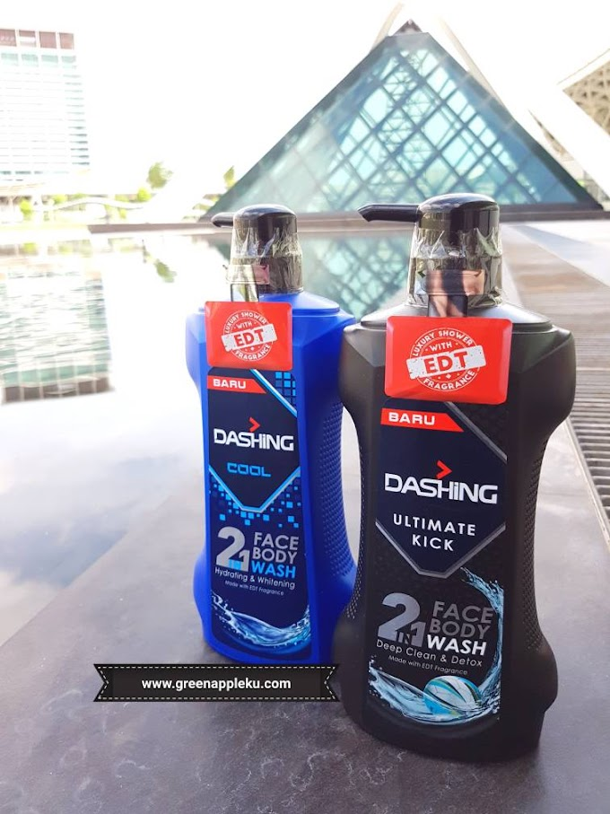 Dashing 2 in 1 Face and Body Wash.