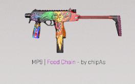 MP9 | Food Chain Classified Skin.