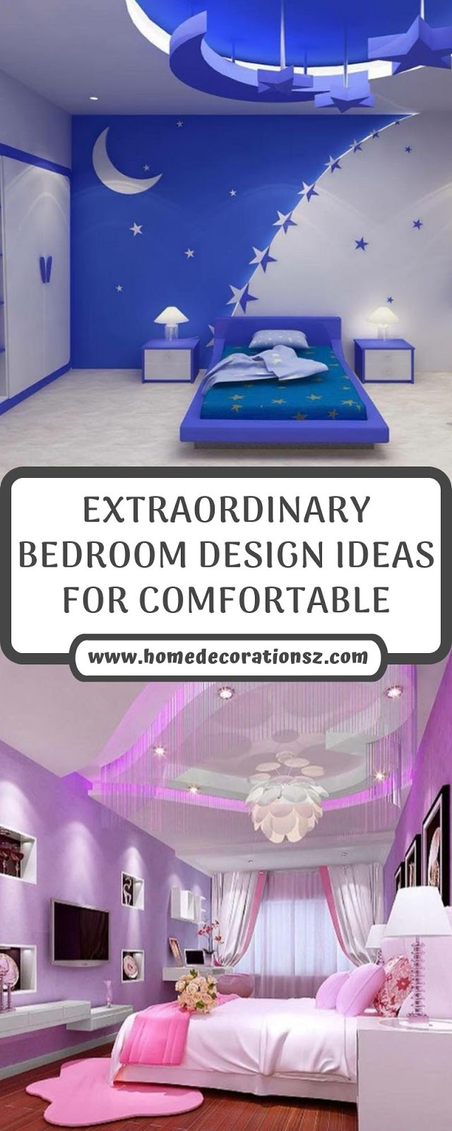 EXTRAORDINARY BEDROOM DESIGN IDEAS FOR COMFORTABLE