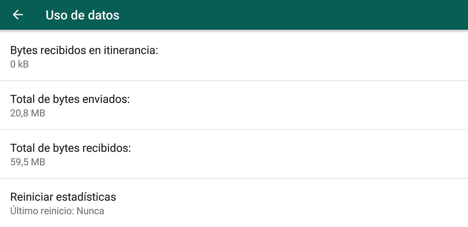 Herramienta de seguimiento de datos de WhatsApp