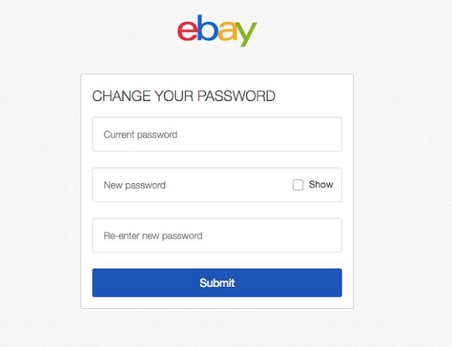 قم بتغيير كلمة مرور eBay