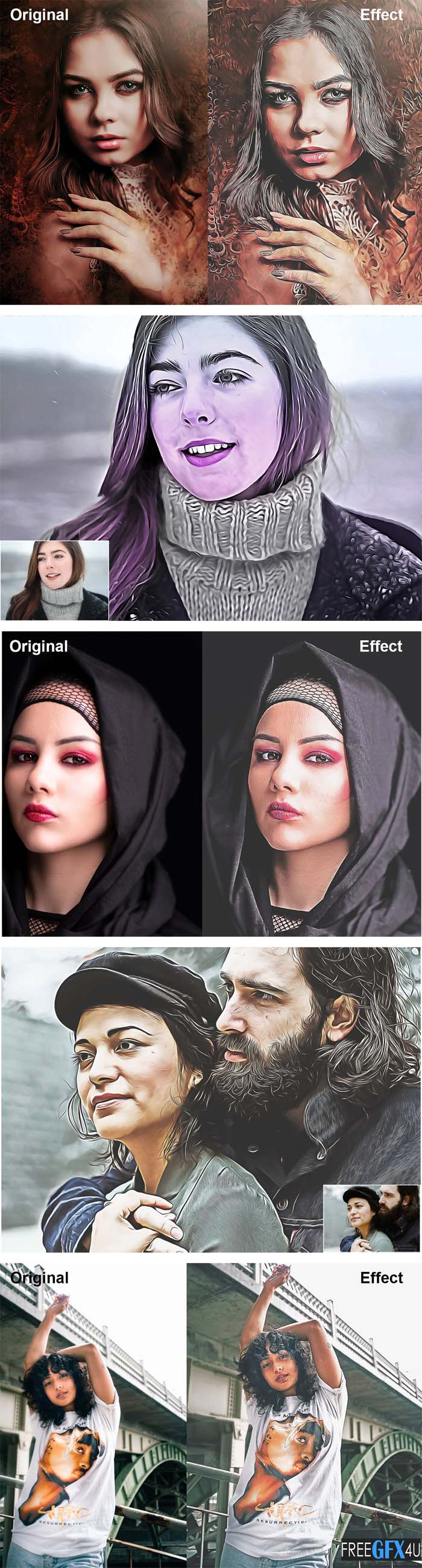 Hard Oil Painting Photoshop Action