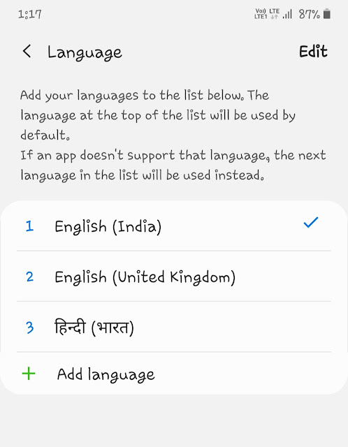 Change system language to English (US)