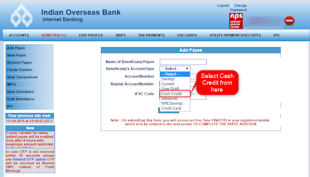 How to Add Standard chartered credit card as beneficiary in net banking