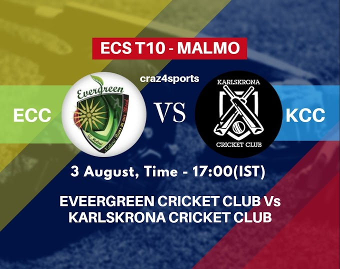 ECC VS KCC Dream11 prediction | EVEERGREEN CRICKET CLUB Vs KARLSKRONA CRICKET CLUB | Dream11 ECS T10 MALMO | Top picks | Players stats | Pitch Report | Dream Team