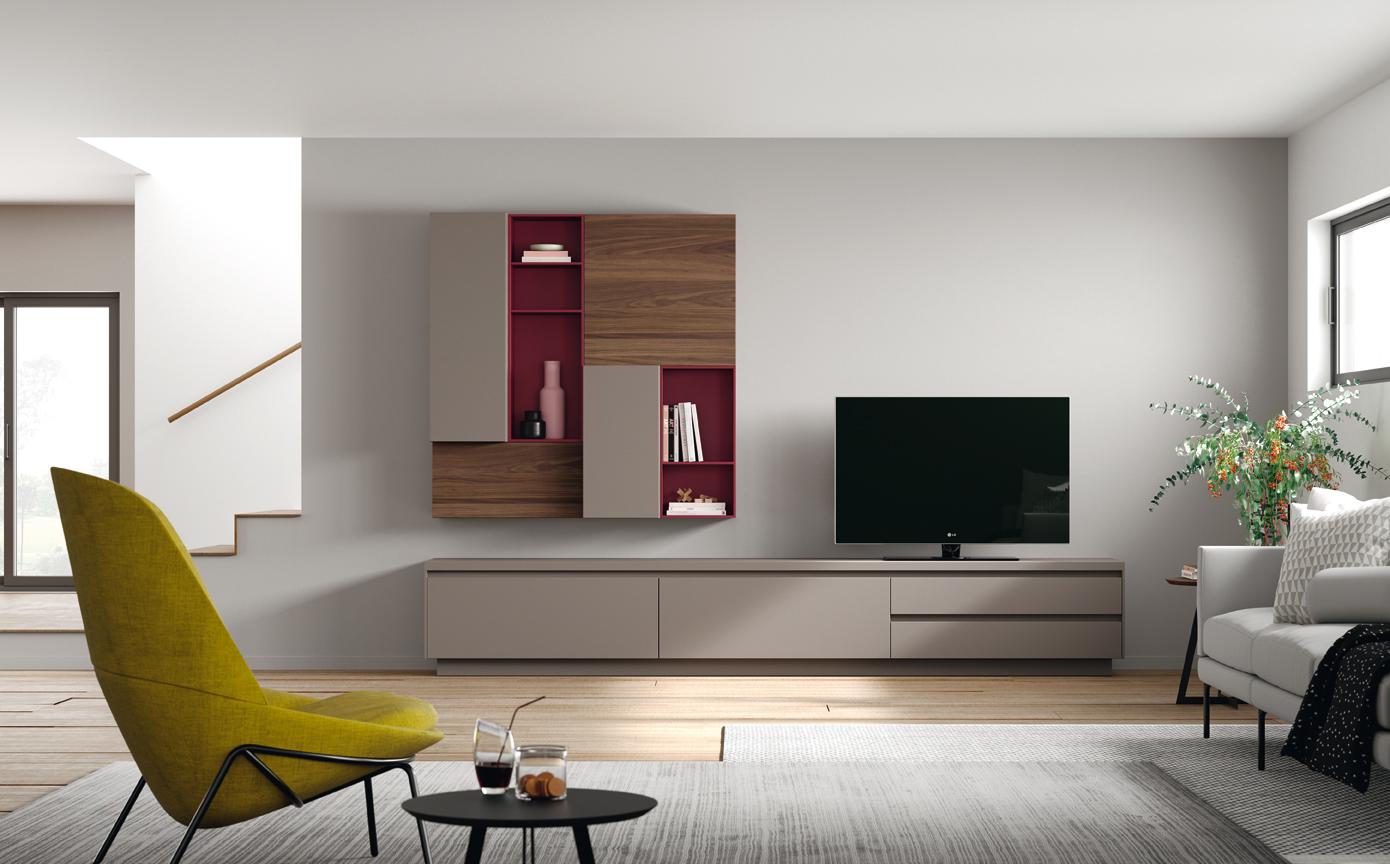 telewizor w rogu salonu
