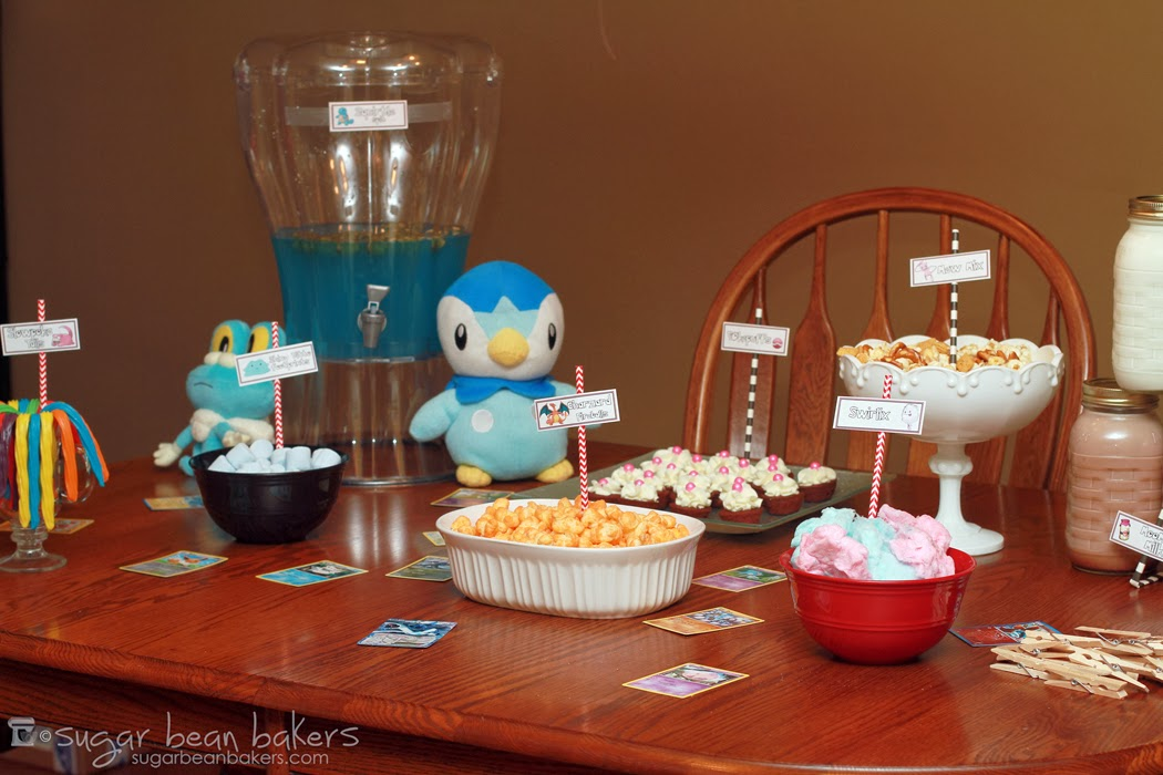 Sugar Bean Bakers Quick And Easy Pokemon Party