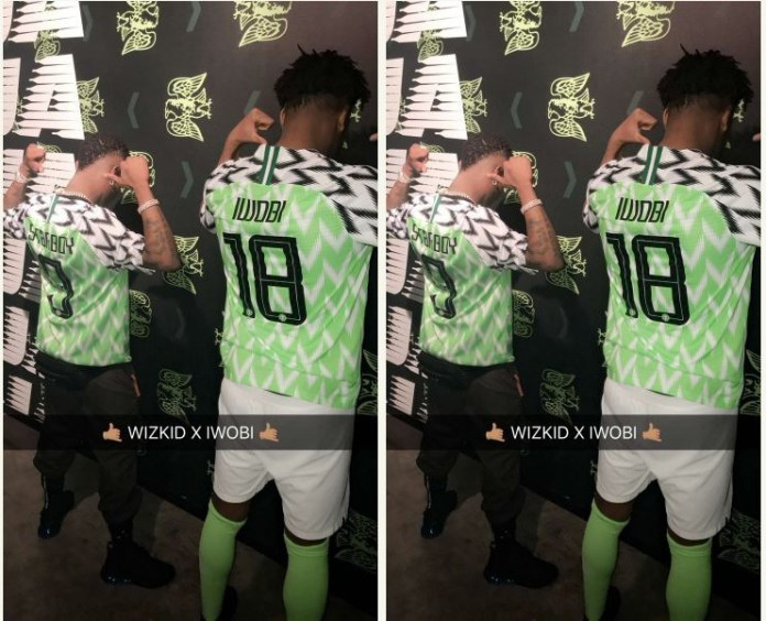 1c41aa46d0b Wizkid And Iwobi Model For New Super Eagles  Jersey (Photos ...