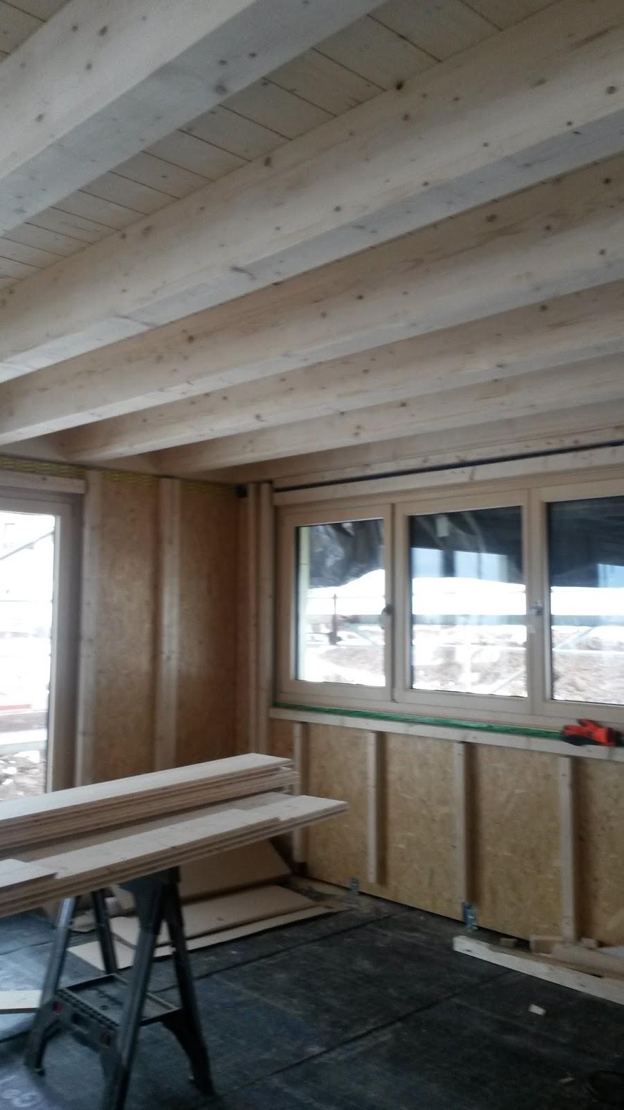Jenny Und Lars Bauen Ein Haus Gegen Schneeschippen Im Wohnzimmer