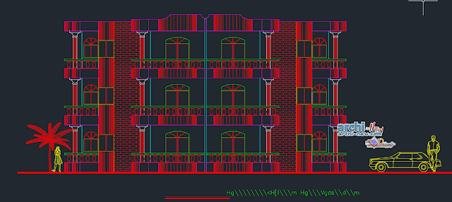 Mansoura Club Chalets in AutoCAD