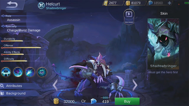 Helcurt new Hero Mibile Legends