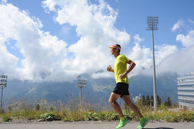 Андрей Думчев, бег в горах, Лаура, курорт Газпром