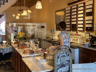 counter at Treats in Nevada City, California