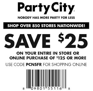 image relating to Party City Coupons Printable named Get together Town Printable Discount coupons July 2017 - Discounted Footwear Retailer