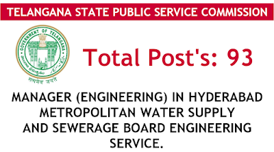 Manager engineering in hyderabad metropolitan water supply and sewerage