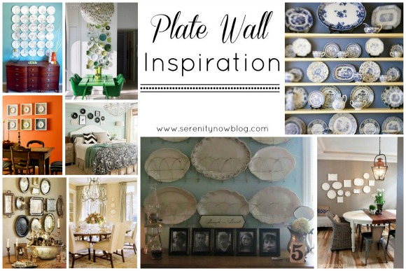 Plate Wall Ideas (a Round-Up), at Serenity Now