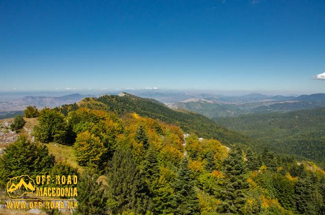 View towards Mariovo region, from Sokol Peak, Nidze Mountain, Macedonia