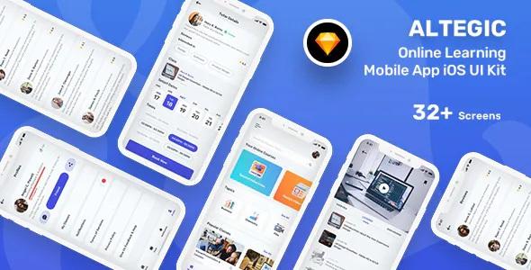 Download Online Learning Mobile App UI Kit