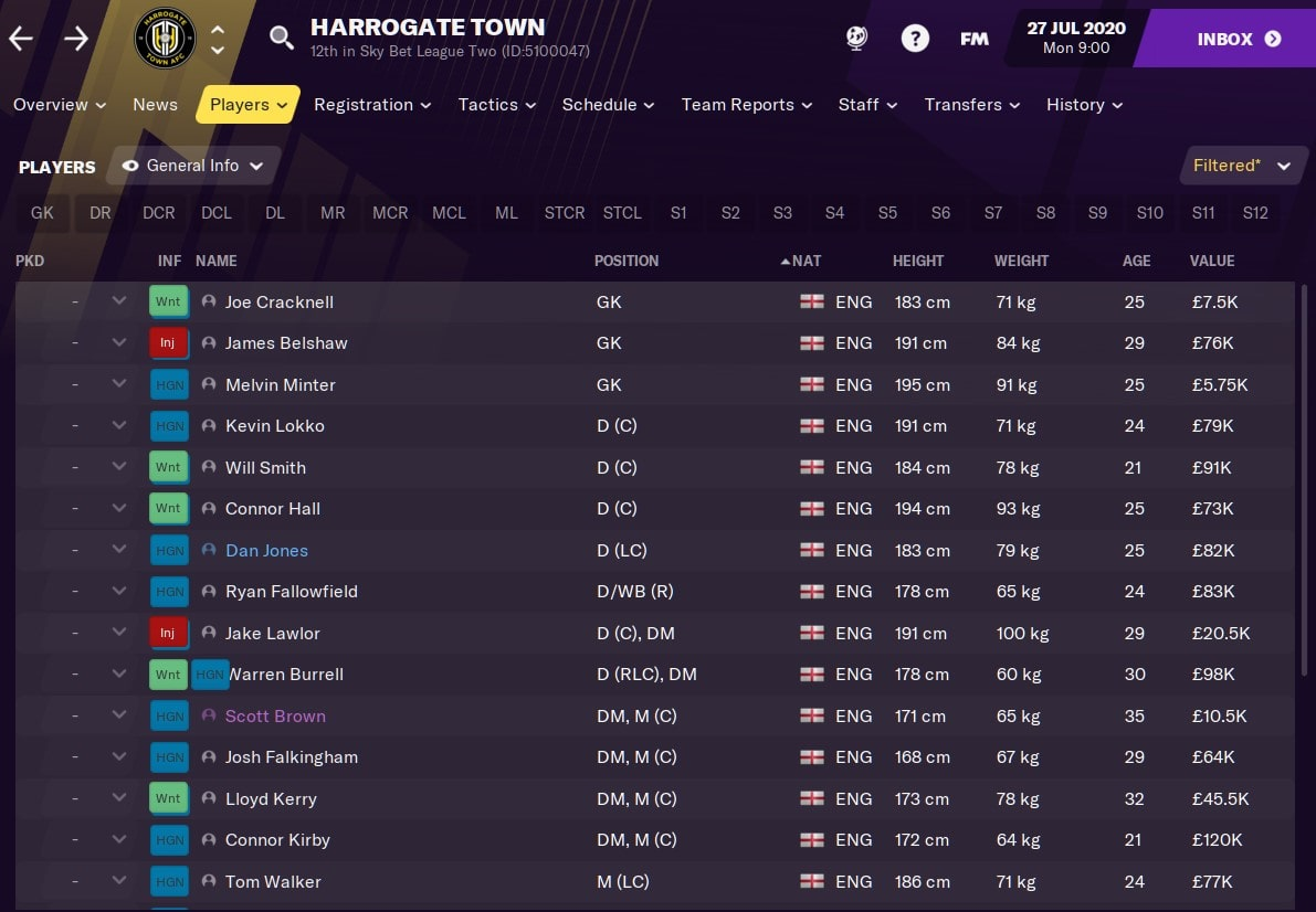 Harrogate Town Football Manager 2021 FM21