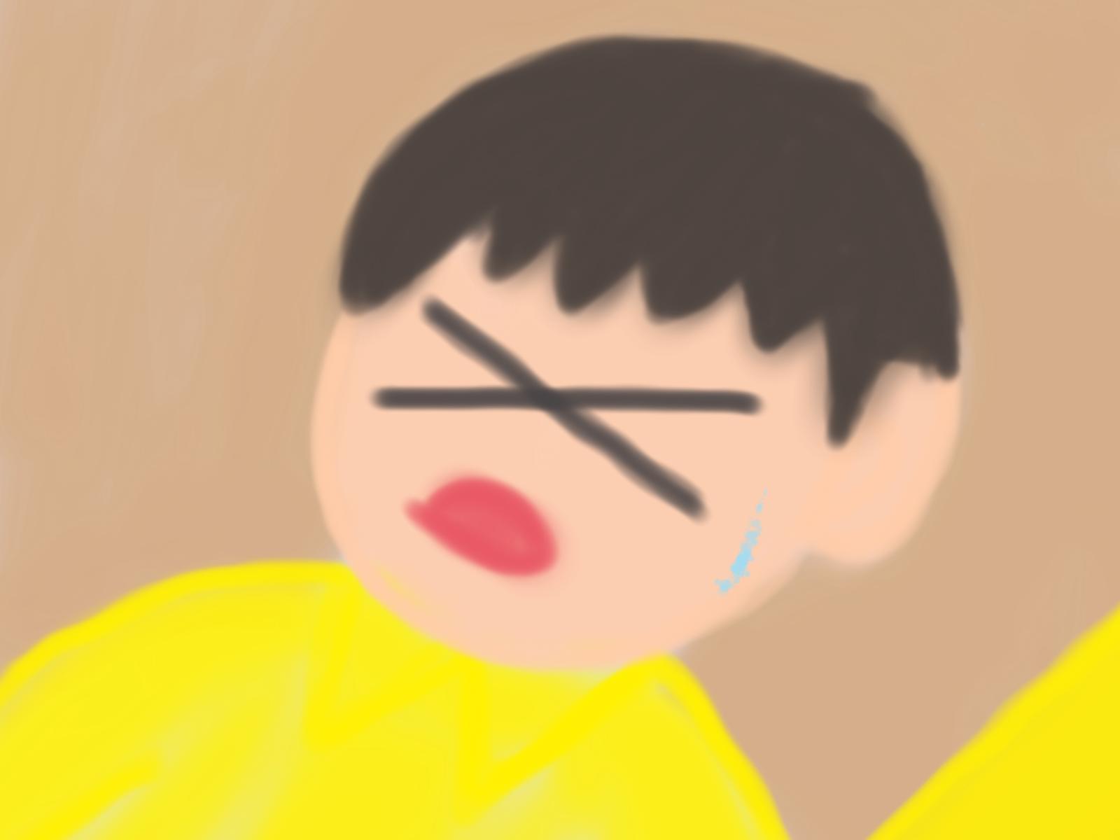 辛苦の表情