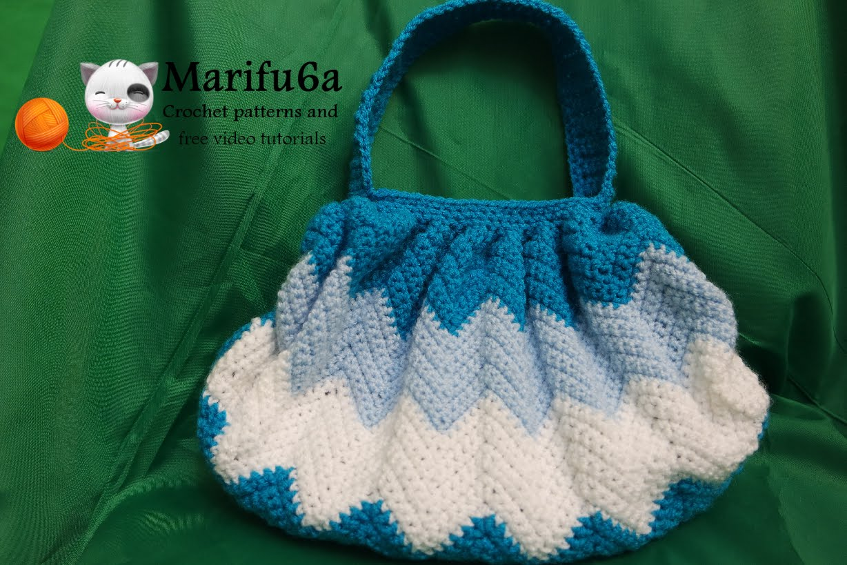 crochet zigzag bag purse pattern