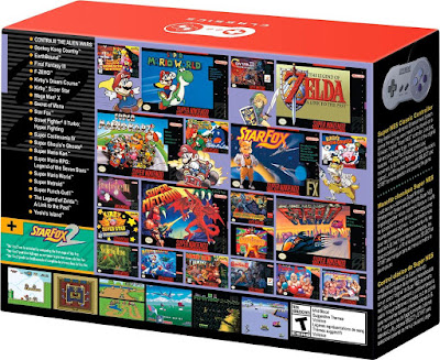 Super Nintendo Classic Games List Back of Box