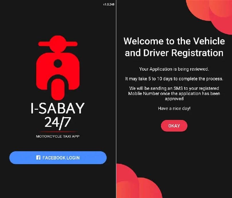 i-Sabay 24/7 Driver Application