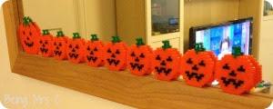 Halloween Hama bead pumpkins