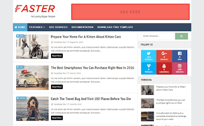 Faster Blogger Template